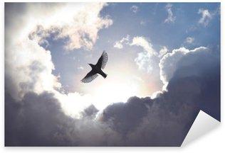 Pixerstick Sticker Engel Vogel in de Hemel