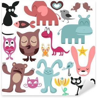 Sticker Pixerstick Ensemble aléatoire de divers animaux drôles