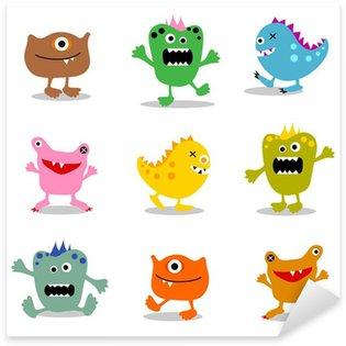Sticker Pixerstick Ensemble de petits monstres mignons 2