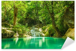 Sticker - Pixerstick Erawan waterfall.