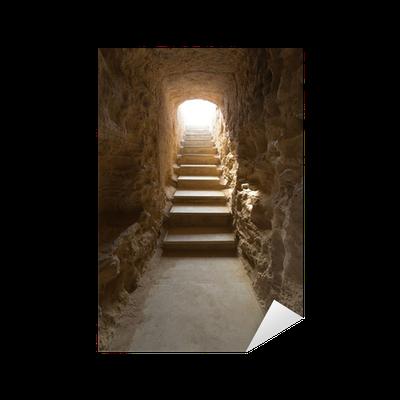 Sticker escalier et couloir souterrain des tombeaux des for Stickers muraux pour couloir
