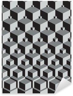 escher inspired stacking cubes art Sticker - Pixerstick