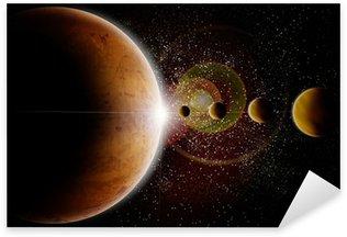 espace planete Sticker - Pixerstick