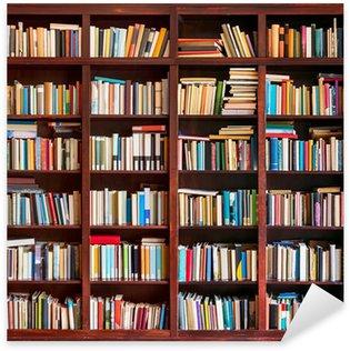 Sticker Pixerstick Étagère pleine de livres