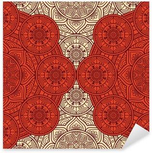 Ethnic floral seamless pattern Pixerstick Sticker