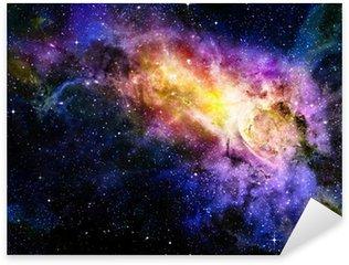 Sticker Pixerstick Étoilé nebual profonde espace extra-atmosphérique et la galaxie