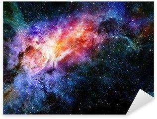 Sticker Pixerstick Étoilé nébuleuse profonde espace extra-atmosphérique et la galaxie
