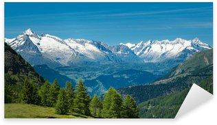 Sticker - Pixerstick European Alps. Panorama with high mountains