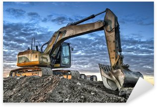 Excavator Sticker - Pixerstick