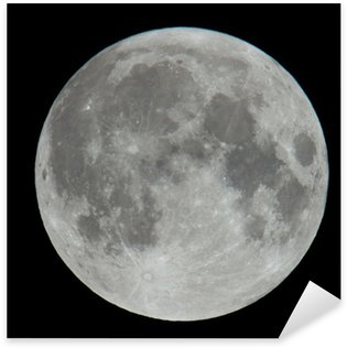 Sticker - Pixerstick Extremely High Resolution Photo of Moon Lunar Surface
