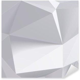 Sticker Pixerstick Faible forme de géométrie de polygone. Vector illustration