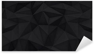 Sticker Pixerstick Faible polygone façonne fond, triangles mosaïque, dessin vectoriel, arrière-plan créatif, modèles de conception, fond noir