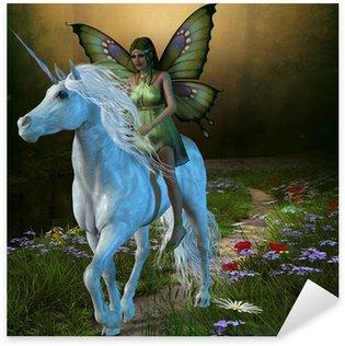 Sticker Pixerstick Fairy Forest et Licorne