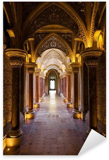 Sticker Pixerstick Fairytale corridor du palais Monserrate à Sintra ville, Portugal