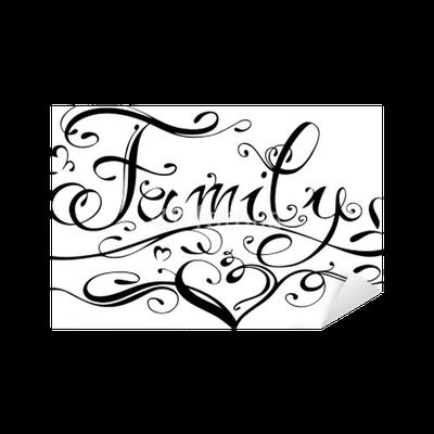 family familie tattoo schriftzug logo sticker pixerstick pixers we live to change. Black Bedroom Furniture Sets. Home Design Ideas