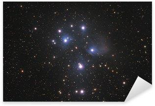Famous Pleiades nebula in zodiac constellation of the Bull. Sticker - Pixerstick