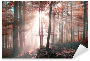 Sticker Pixerstick Fantasy Forest ensoleillé d'automne