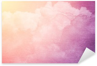 Sticker - Pixerstick fantasy sky and cloud with pastel gradient color and grunge texture