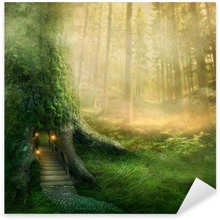 Fantasy tree house Sticker - Pixerstick