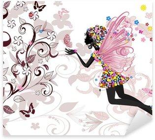 Sticker Pixerstick Fée motif