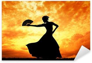 Sticker Pixerstick Femme danse flamenco
