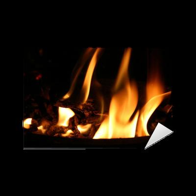 Sticker Feu de cheminée • Pixers® - Nous vivons pour changer