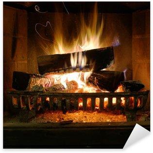 Fireplace Sticker - Pixerstick