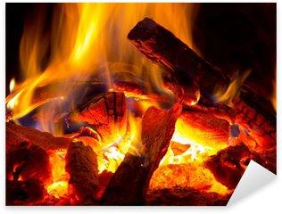 Sticker Pixerstick Flamme de feu