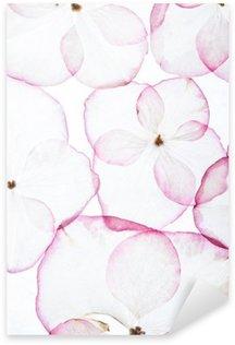 Sticker Pixerstick Fleurs d'hortensia