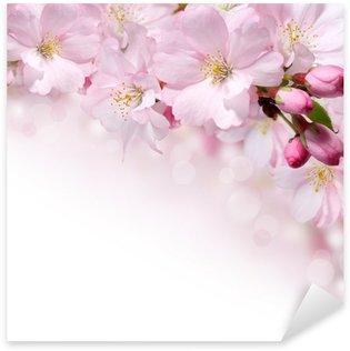 Sticker Pixerstick Fleurs de printemps conception fond frontière