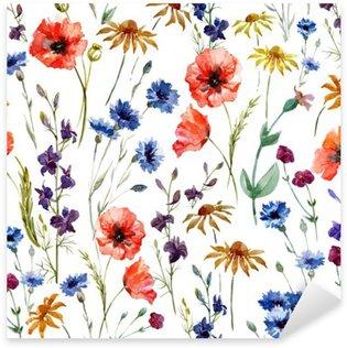 Sticker Pixerstick Fleurs des champs
