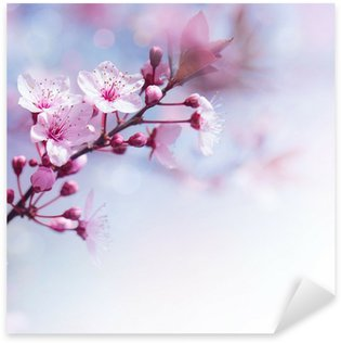 Sticker Pixerstick Fleurs fraîches de cerisier frontière
