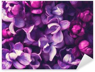 Sticker Pixerstick Fleurs lilas fond.