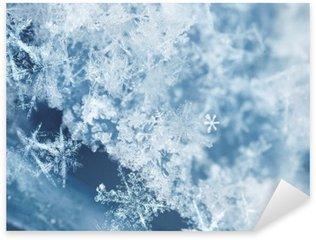 Sticker Pixerstick Flocons de neige Frosty