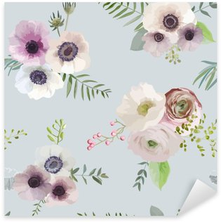 Sticker Pixerstick Floral Background Vintage - seamless pattern - dans le vecteur