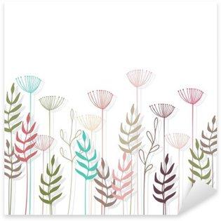 Floral background. Sticker - Pixerstick