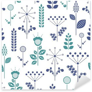 Sticker Pixerstick Floral nordique