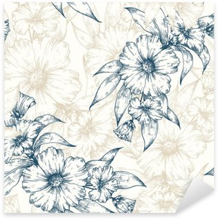 Sticker - Pixerstick Floral vector pattern