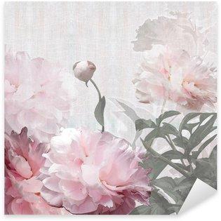 Sticker Pixerstick Florales de pivoines de conception