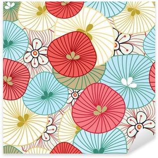 Flower background Sticker - Pixerstick