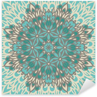 Flower Mandala. Abstract background. Sticker - Pixerstick