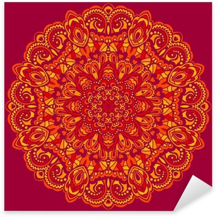 Flower Mandala. Abstract element for design Sticker - Pixerstick