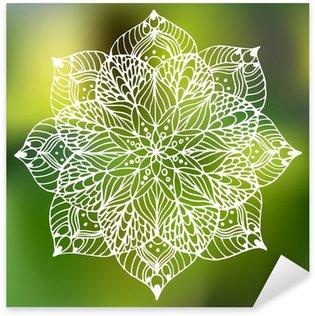 Sticker - Pixerstick flower mandala