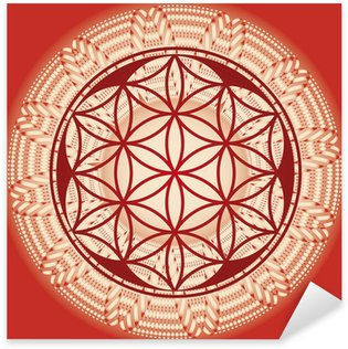 Sticker - Pixerstick Flower of life seed mandala