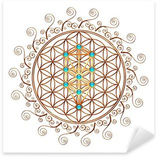 Flower of Life, Tree of Life, Kabbalah, Sephiroth Sticker - Pixerstick