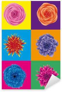 flower power / blumen pop art Sticker - Pixerstick