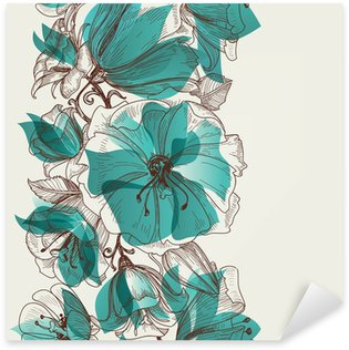 Flower seamless pattern vector Sticker - Pixerstick