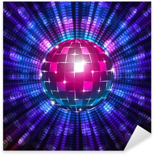 Sticker - Pixerstick Fluorescent disco ball