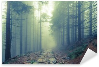 Sticker - Pixerstick Fog in the haunted forest