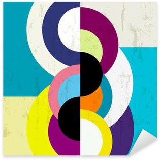 Sticker Pixerstick Fond abstrait, cru / conception géométrique rétro, sale
